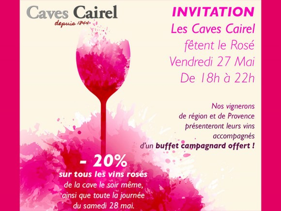 - 20 %, Rosé festival on 27 and 28 May 2106