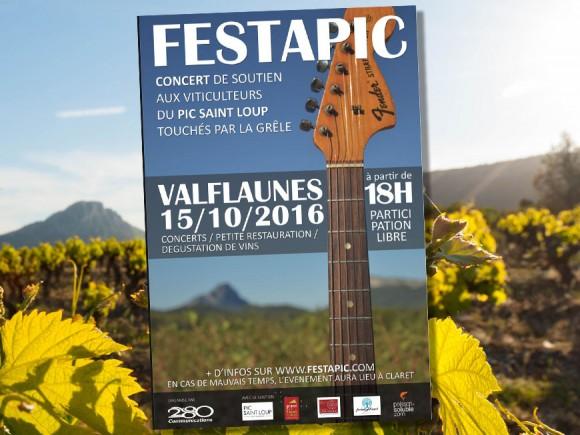 Concert de soutien Festapic aux vigerons du Pic Saint Loup