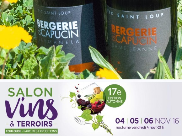 Exhibition Vins et Terroir, from 4 to 6 November 2016