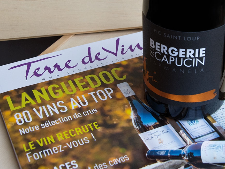 Larmanela 2015 selected by newspaper Terre de Vins